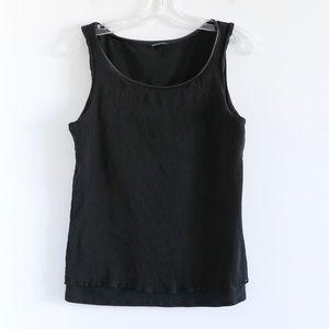 Club Monaco crinkle double-layer sleeveless blouse